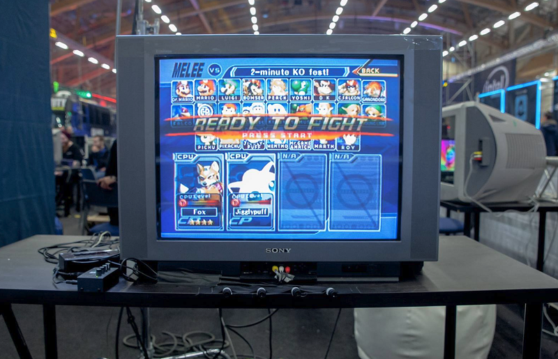 smash bros melee tournaments are shrines to old tvs