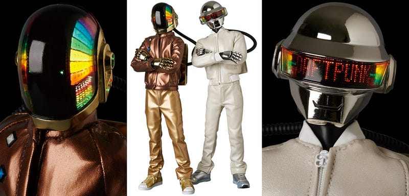Illustration for article titled I Must Own These Daft Punk Figures With Light-Up LED Helmets