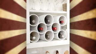 Illustration for article titled Turn PVC Pipe Into a Fit-Anywhere Wine Rack