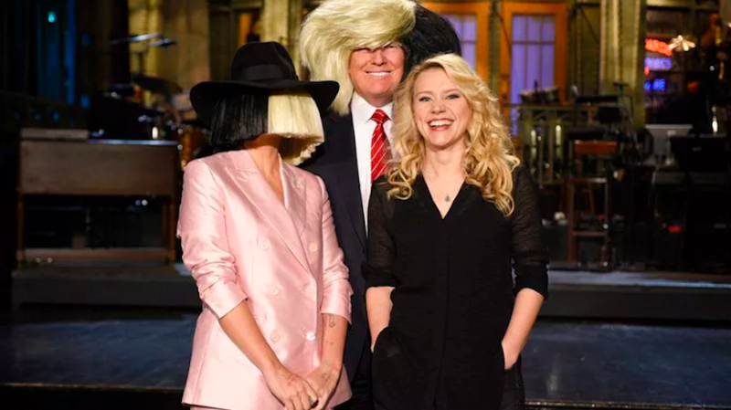 Sia, Donald Trump, and Kate McKinnon