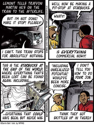 Illustration for article titled Candorville Comic: Starbucks