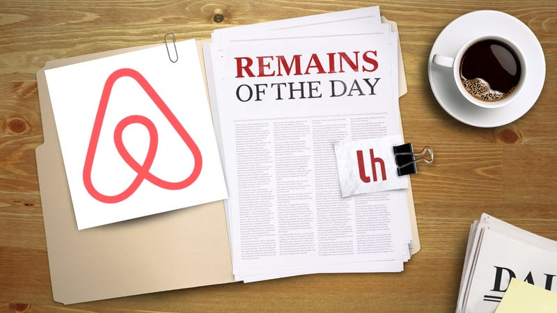 Illustration for article titled Remains of the Day: You Can Now Complain to Airbnb About Your Neighbors