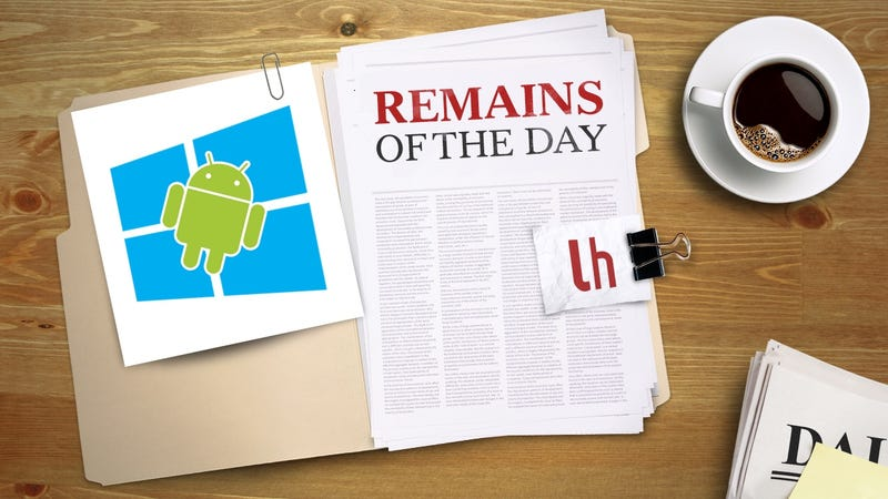 Illustration for article titled Remains of the Day: Windows Insiders Can Now Get Android Notifications on Their PCs