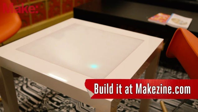 Build A Jumbo Sized Music Visualizer Into An Ikea Side Table