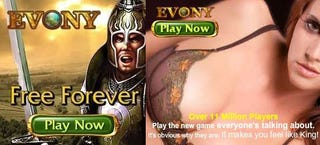 Illustration for article titled Evony Ads Go From Bad To Worse To Awesome