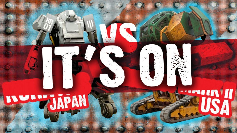 Illustration for article titled IT'S ON: Japan Accepts US Giant Robot Fight Challenge
