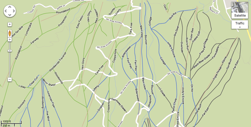 Illustration for article titled Hell Yes: Google Maps Has Ski Mountain Maps Now