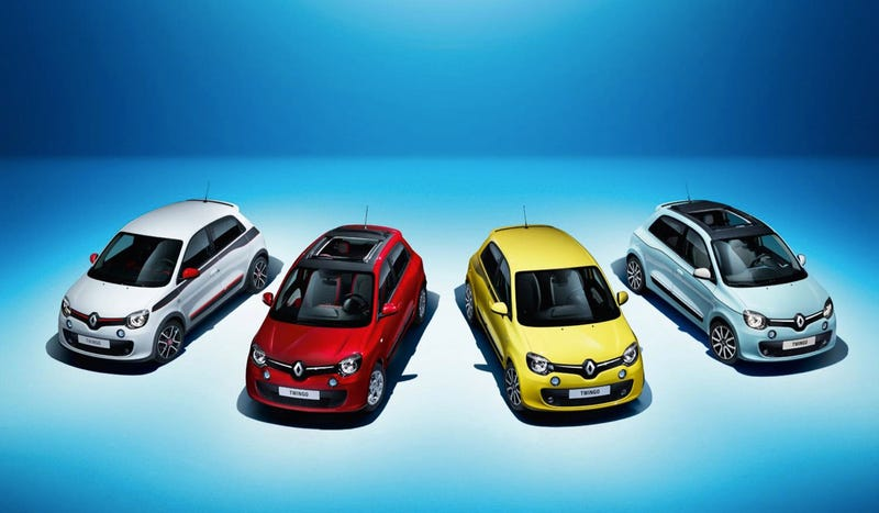 Illustration for article titled 2015 Renault Twingo Is The Funky, Rear-Engined French Hatch We Need