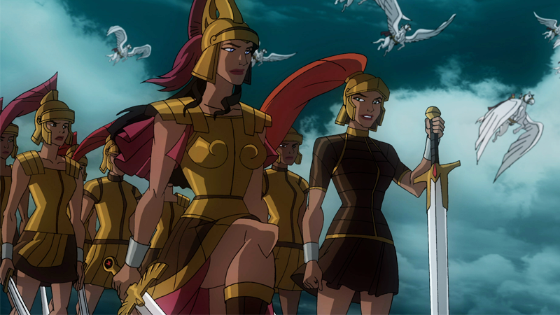 The Amazons as they appear in the 2009 DC Animated movie 'Wonder Woman'.