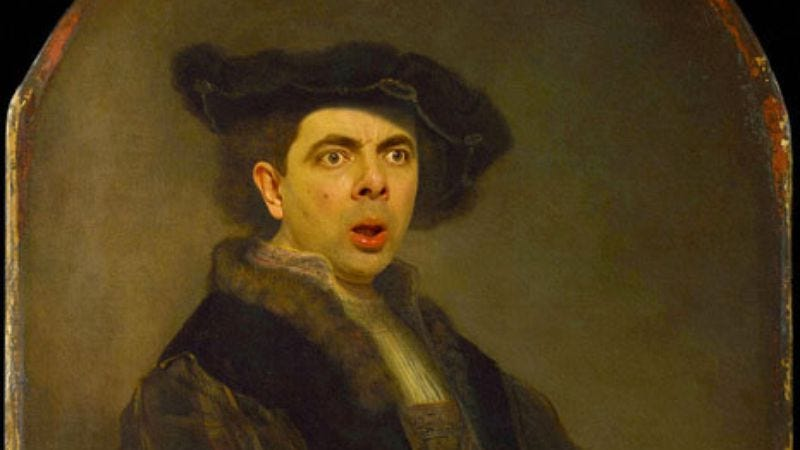 Illustration for article titled Mr. Bean meets Blackadder with these digitally altered classical portraits