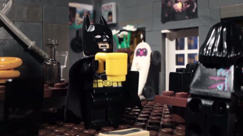 Illustration for article titled This Lego stop-motion of jealous Batman has a surprise ending