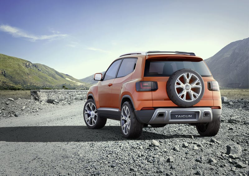 Illustration for article titled Tiny Volkswagen Taigun Is Not A Tiguan, Looks Great, Could Become Real