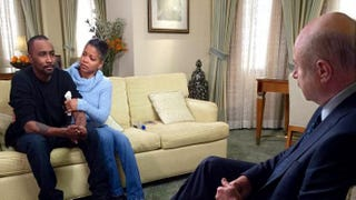 Nick Gordon; his mother, Michelle; and Dr. Phil McGraw, TV's Dr. PhilDr. Phil