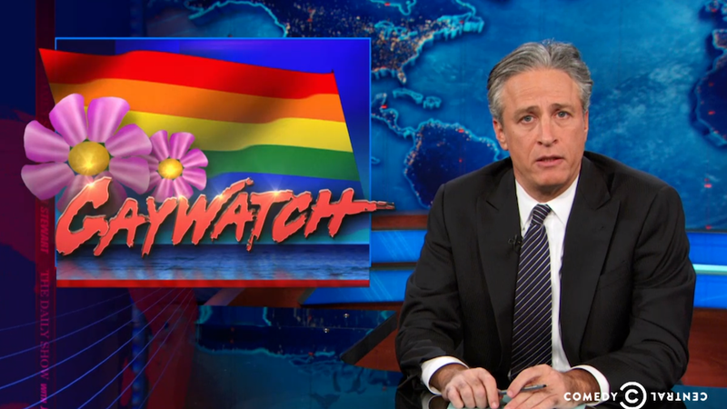 Illustration for article titled Jon Stewart Puts Holiday Homophobia on Blast