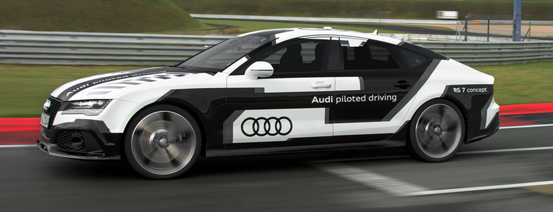 Illustration for article titled This Audi RS7 Just Drove Itself Around A Track At 150MPH