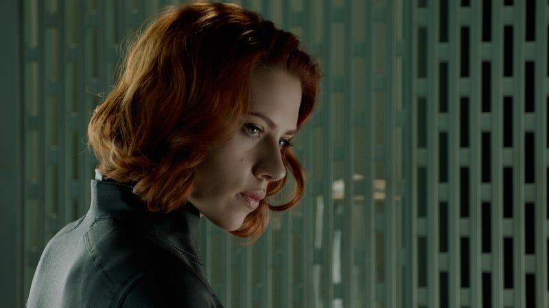 Scarlett Johansson as Black Widow in The Avengers