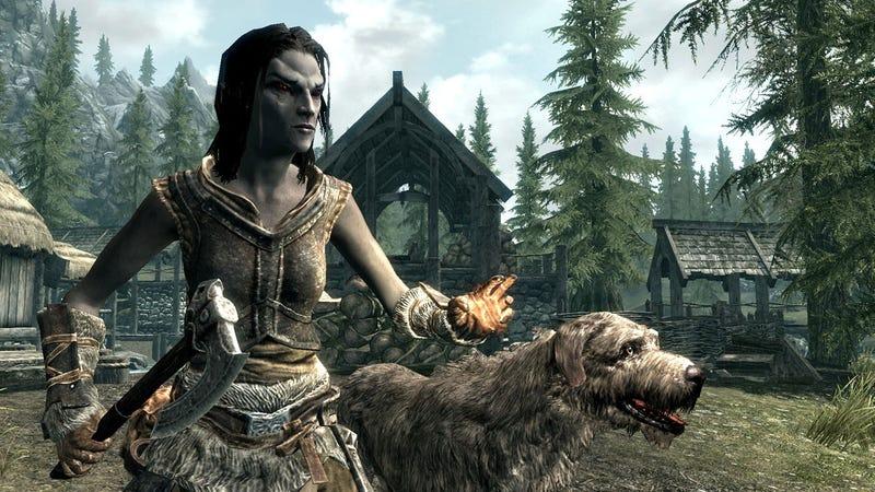 Un jugador acaba viviendo la aventura de su vida en Skyrim tratando de adoptar un perro