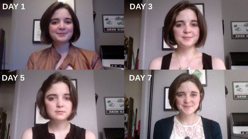 Illustration for article titled Woman Takes One Photo Of Herself Every Day For A Week