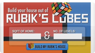 Illustration for article titled How Many Rubik's Cubes Would You Need To Build a House?