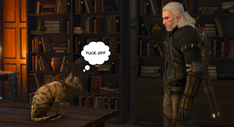 Illustration for article titled The Witcher 3's Cats All Hate Me :(