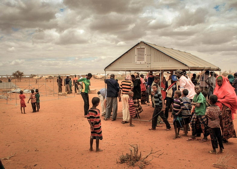A few years ago Ikea announced it had designed a better refugee shelter using its flatpack furniture as a basis for engineering. & The UN Just Ordered 10000 of Ikeau0027s Brilliant Flatpack Refugee ...