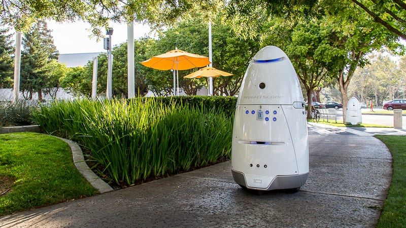 Mall security bot knocks down toddler, breaks Asimov's first law of robotics