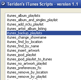 Illustration for article titled Teridon's iTunes Scripts Lets You Batch Edit Your iTunes Collection