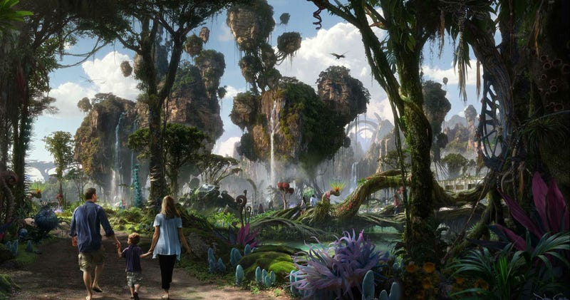 Concept art from Pandora: The World of Avatar. Image: Disney