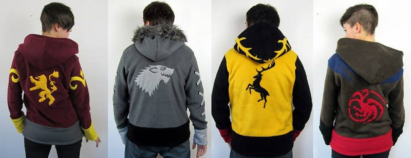 Illustration for article titled Game of Thrones house hoodies are perfect for the long winter ahead
