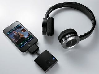 Illustration for article titled Onkyo MHP-UW2 Wireless Headphones For iPod Users