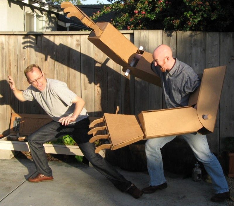 Illustration for article titled Giant Cardboard Robot Arms, REPEAT, Giant Cardboard Robot Arms