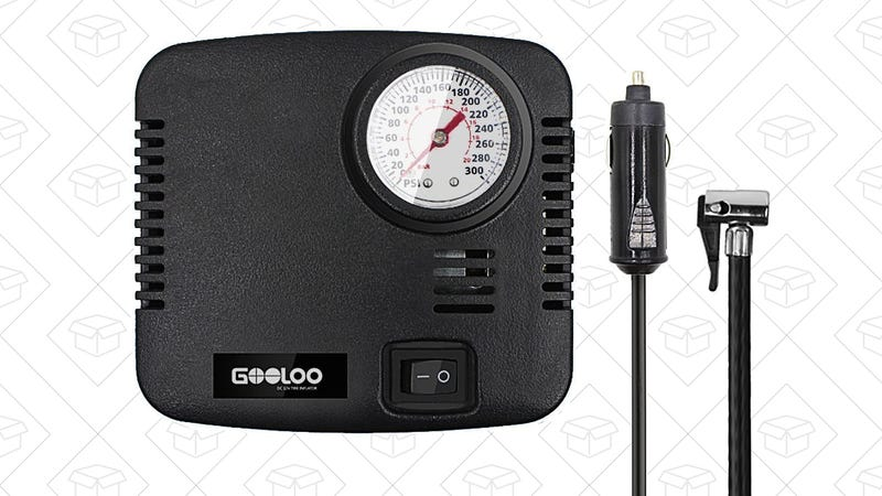 GOOLOO 300PSI Tire Inflator, $16 with code UG4JAQAG