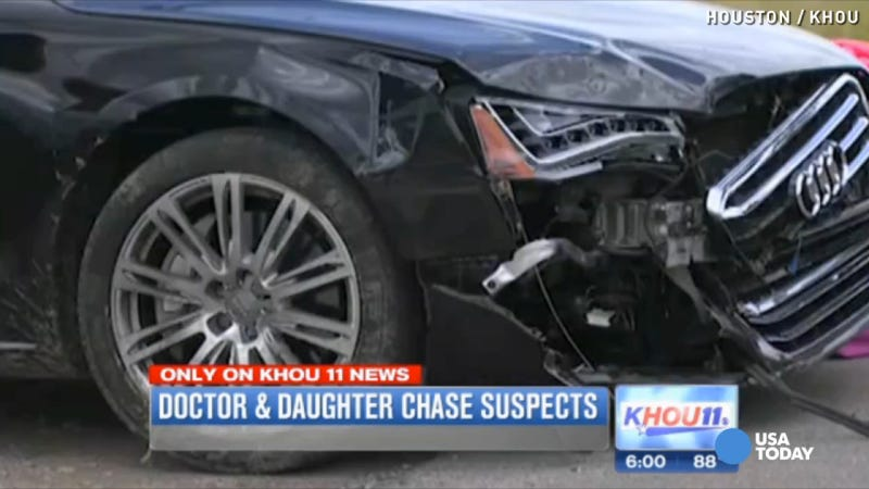Illustration for article titled Dad Has No Regrets Letting Daughter Crash Car In Insane Vigilante Chase
