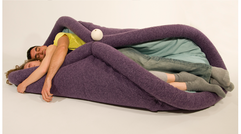 Illustration for article titled Celebrate International Women's Day by Sleeping Inside This Giant Furry Vagina