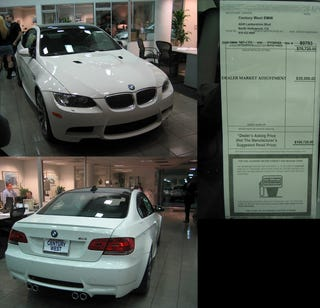 Illustration for article titled First 2008 BMW M3s Marked Up To $100k