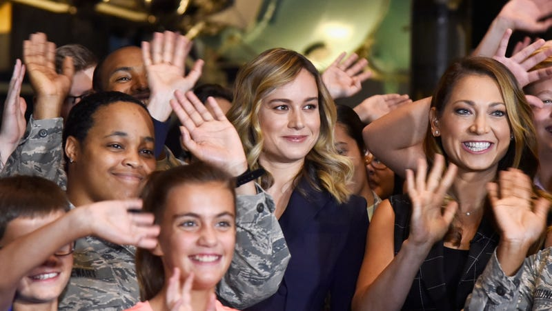 Brie Larson at the National Air & Space Museum.