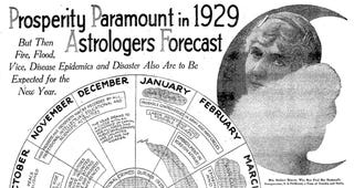 Illustration for article titled Astrologers Predict 1929 Will Be Year of Prosperity