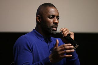 Actor Idris Elba speaks onstage after BBC America's Luther screening on Dec. 2, 2015, in New York City.Neilson Barnard/Getty Images