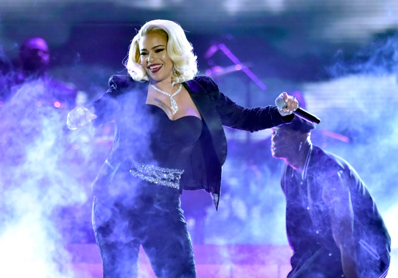 Faith Evans performs during the 2018 Soul Train Awards at the Orleans Arena on November 17, 2018 in Las Vegas, Nevada.