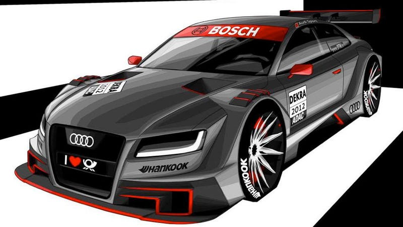 Illustration for article titled Audi's DTM concept is not amused by evil BMWs