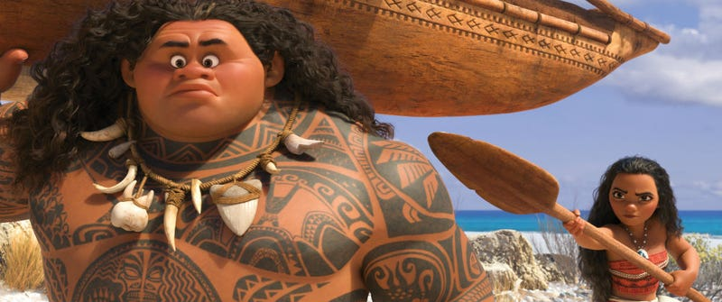 Maui and Moana are about to go on an adventure in Moana. All Images: Disney