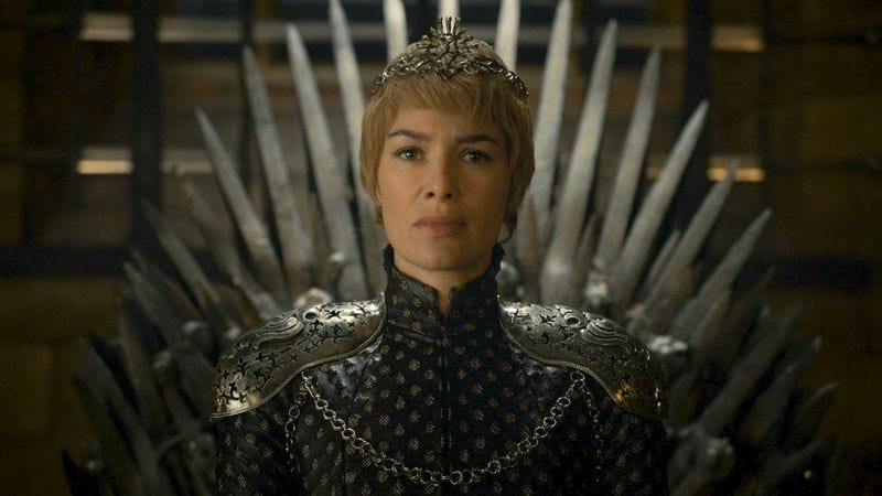 Cersei reached the Iron Throne by climbing atop a pile of bodies. (Photo: HBO)