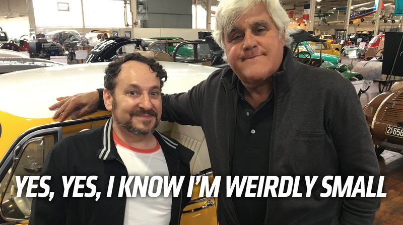 Illustration for article titled No Biggie, I'm Just Taking A Ride In The Worst Car Ever With My Buddy Jay Leno