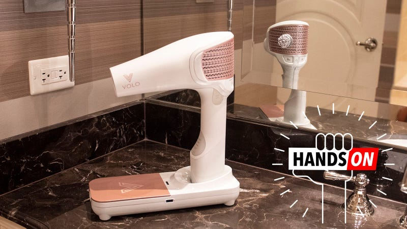 Illustration for article titled This Cordless Hair Dryer Uses Infrared Light to Banish Wetness