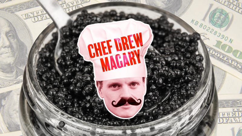 Illustration for article titled I desecrated $400 worth of caviar to prove a point I've now forgotten