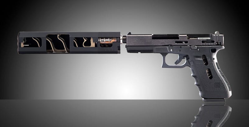 Illustration for article titled Cómo es por dentro y cómo funciona en realidad el silenciador de un arma
