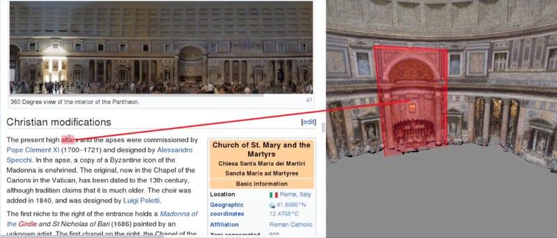 Illustration for article titled Este software genera modelos 3D buscando en Wikipedia y Flickr