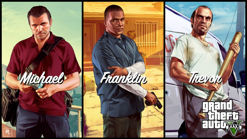 Protagonists Of GTA V A Really Close Look Or You Could Decorate Your Desktop With Them Rockstar Has Released Wallpapers Starring Michael Franklin