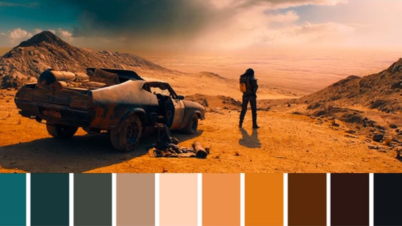 Illustration for article titled This Twitter account builds gorgeous color palettes from movie scenes