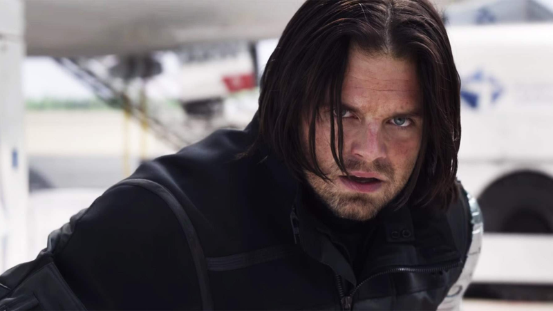 Bucky as the Winter Soldier.
